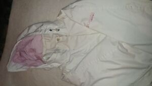 Columbia white and pink winter jacket