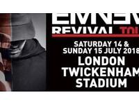 Eminem Sunday 15th July 1x standing ticket less than face value
