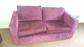 Two seater & armchair