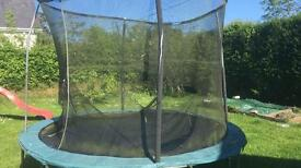10 ft jumpking trampoline perfect just needs new net... see details in Ad