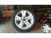 "BMW 16""alloy wheel with tyre"