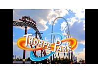 Thorpe park Tickets £29.99 each