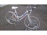 LADIES ROAD BIKE HAS 18 INCH FRAME GOOD CONDITION