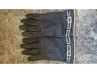 100% real leather women's gloves