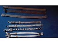 Children's belts and braces.