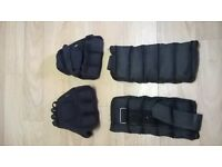weighted gloves and ankle weights