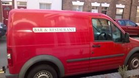 Ford transit connect Panel Van with side door.