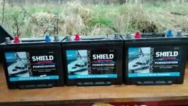 3x 12volt marine leisure batterys 85ah each