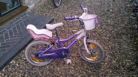"Girls 16"" Puddin bike"