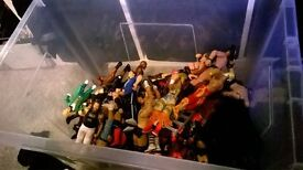 80 WWE figures, plus other wwe bits