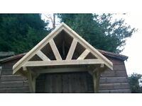 Traditional Wooden Door Canopy Brand New
