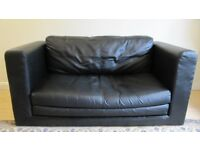 2 Seat Double Leather Sofa Bed