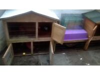 Ferrets/ rabbits or small animal Hutch with run 2 x 2 stories (Indoor sick cage)