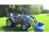 Solis 26 Compact Tractor with Front Loader. Mitsubishi Engine. Power Steering