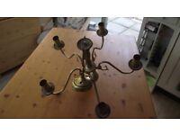 In good working order gold/bronze coloured chandelier