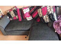 Corner sofa hardly used Open to offers L 213cm W 84cm Corner sofa w 144cm