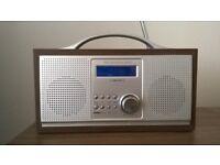Wooden DAB radio