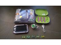 leap pad ultra built in games plus 5 cartridge games and carry case