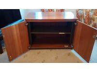 Lockable dark wood cupboard