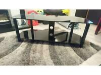 Glass tv unit/stand black