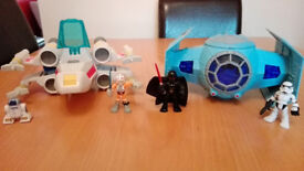 Star Wars Playskool Heroes X Wing & Tie Fighter Pack (incl. figures) - COLLECTION HERTFORD TOWN