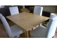 Extendable Dining table and 4 chairs for sale (£55) – Totterdown