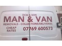 MAN & VAN/RUBBISH REMOVALS/OLD SOFAS/APPLIANCES/BEDS/HOUSE CLEARENCES/WE MOVE ANYTHING/ALL AREAS