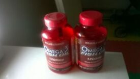 Omega fish oil 1200mgs 190 tablets 360mgs EPA/DHA excellent central London bargain