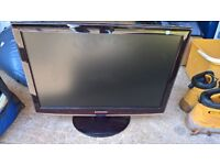 "Samsung -T220 SyncMaster 22"" Widescreen Flat-Panel LCD Monitor - Black/Red"