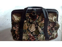 M & S Weekend/Overnight Tapestry Bag - Excellent Condition