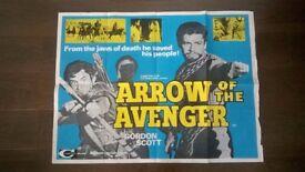 arrow of the avenger ' original 1960s cinema poster