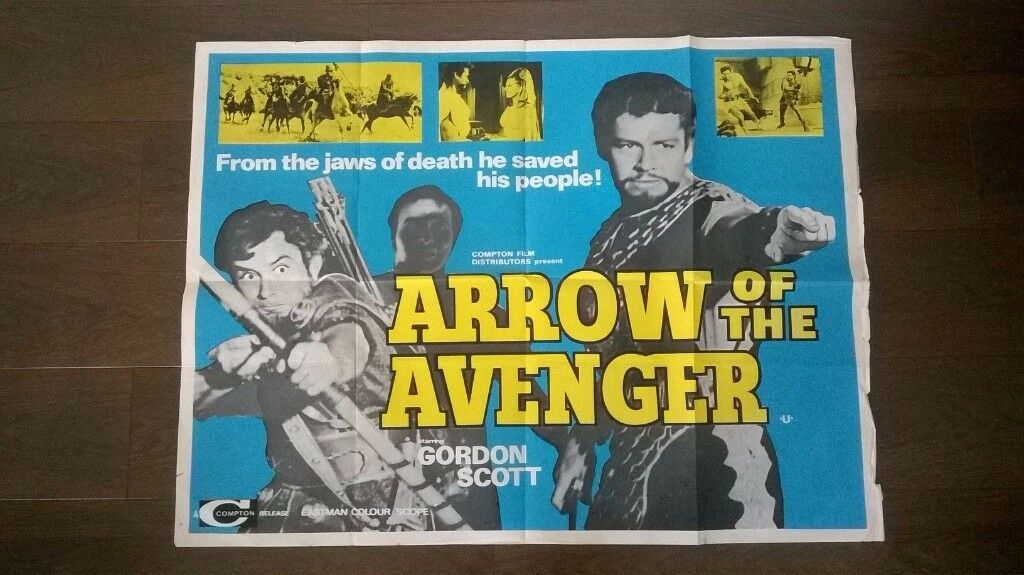 arrow of the avenger ' original 1960s cinema poster