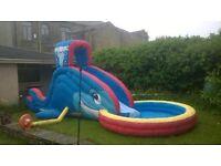 Bouncy water slide