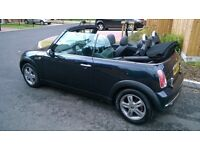 2005 bmw Mini convertible 1.6cc met black top spec fully loaded from factory loads of history £2595