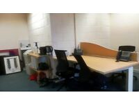 Spacious office desks in shared office with 2 other people - Edinburgh