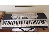 Casio CTK-496 Electronic Keyboards and stagg X stand