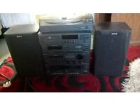 SONY STEREO SYSTEM CS,TURNTABLE RADIO CASSETTES