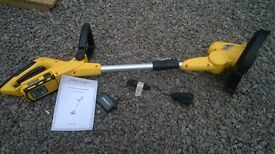 NOW SOLD. Cordless 18 volts trimmer used only once