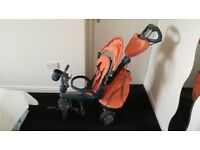 Smart Trike Explorer 5 in 1 Recliner Trike Orange