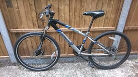 Front suspension mountain bike with disc brakes