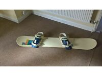BURTON SNOWBOARD WITH BINDINGS 150CM LONG
