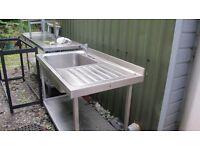 Kitchen sink stainless steel.