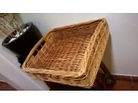 Whicker basket with handles excellent central London bargain