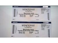 2 tickets for BRING ME THE HORIZON in Manchester Arena