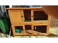 Nearly new rabbit hutch £55