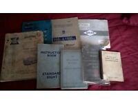 Various vintage car handbooks