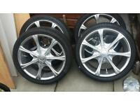 Alloy wheels and tyres 17 inch