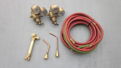 Victor Cutskill Torch Tote Set Torch Handle 2 Brazing Tips Regulators Hoses