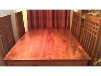 Sheesham wood dining table and 4 chairs