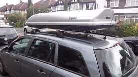 Large Thule roof box to rent - Evolution 900 model - 630L capacity